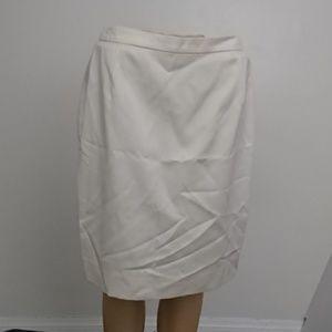 Escada White Wool Blend Skirt IT Size 40 US 4